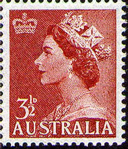 QE2 Definitive 3 1/2d -- Issued 21/03/1953.