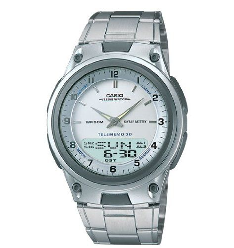 New Casio Ana Digi Dual Time Data Bank Watch with World Time Alarm Timer and More SI1764 -- Click image to review more details.Note:It is affiliate link to Amazon.