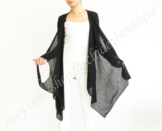 HALEY Convertible wrap jersey cardigan cover-up .  I own & love this!  Anything flattering that I can wear multiple ways!