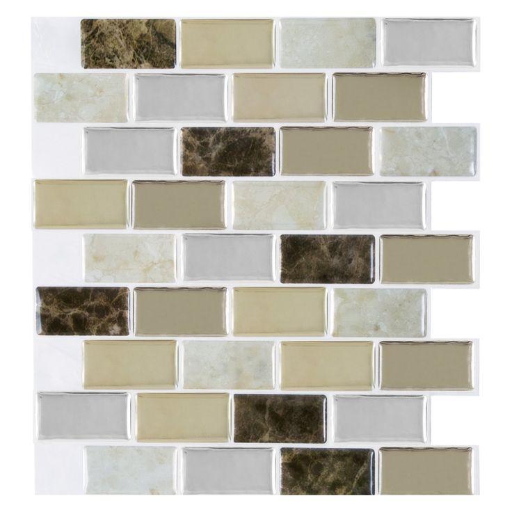 Achim Magic Gel Bronze Granite 9.13 x 9.13 in. Self-Adhesive Vinyl Wall Tile - MGTBRZGR24