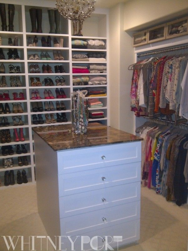 Whitney Port s new closet  I would love a large  organized closet  Maybe I. 11 best Walk in spare bedroom office images on Pinterest   Closet