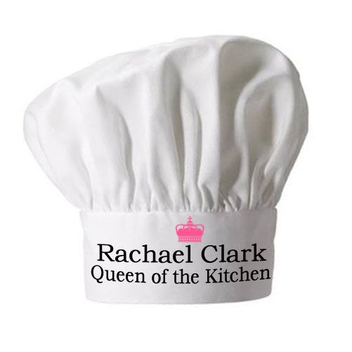 Personalised Queen of the Kitchen Chef Hat - yourgifthouse