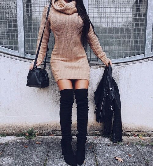 9 month long sleeve dress and boots