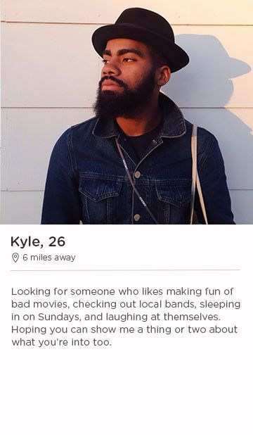 Christian male dating profile example