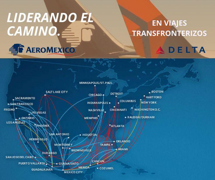 LIDERANDO EL CAMINO, en viajes transfronterizos. #Delta se enorgullece de asociarse con #Aeroméxico para conectar EE.UU. y México. Obtenga sus pasajes de la mano de #TomTours hoy mismo. Comuníquese al (212) 947 - 3131 y disfrute de nuestra atención personalizada. #SomosLatinoamérica
