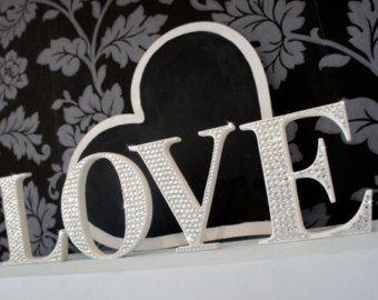 9 best wedding decoration brisbane images on pinterest table crystal rhinestone letters bling wedding letters love letters wedding decoration 15cm junglespirit Gallery
