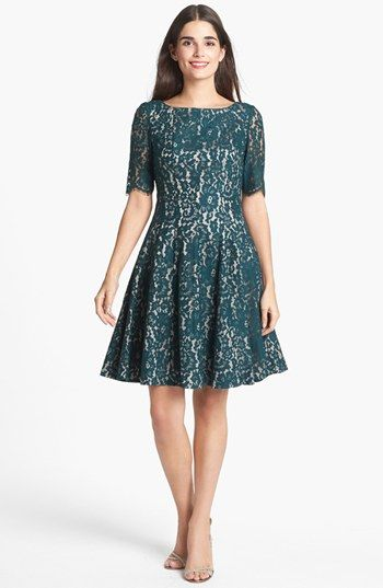 Eliza J Lace Fit & Flare Dress | Nordstrom