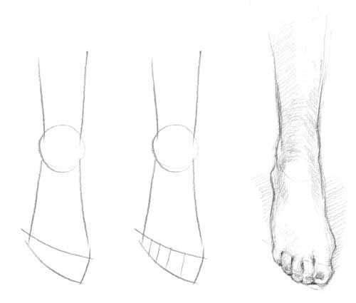 Figure drawing feet
