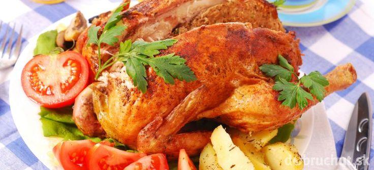 Pečené plnené kurča