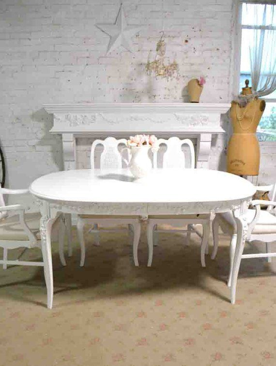 Reserve Asia Dining Table Painted Cottage Chic Shabby French