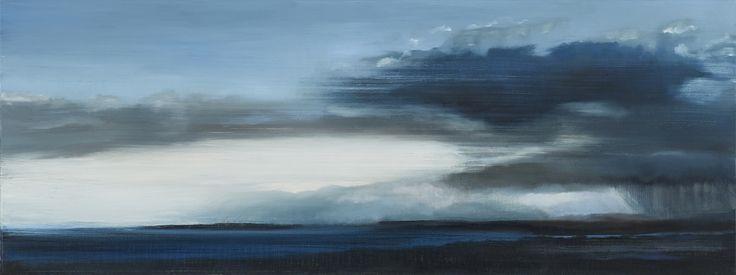 Stroude, Emma - 'Where the Wild Blood Flows' Oil 30cm  x 82cm 2016