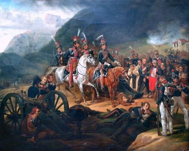BATTLE OF SOMOSIERRA FRENCH EMPIRE & SPAIN PAINTING ART REAL CANVAS PRINT #Realism