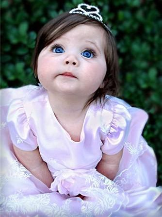 @Rachel FosterThis little princess looks just like my grand daughter with those blue eyes and chunky cheeks.