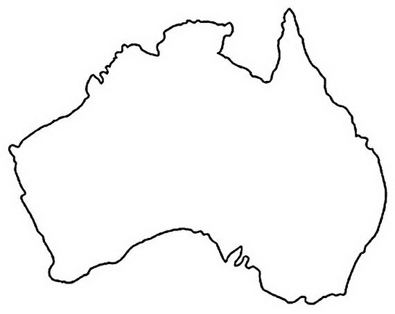 Australia Day Coloring Pages For Kids Australia Map World Map Printable Coloring Pages For Kids