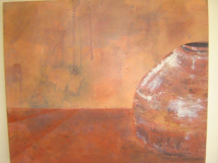 Acrylic . Pots