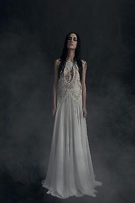 NWOT-1350-Bibi-Bachtadze-ETUNA-Cutout-Lace-RUNWAY-Dress-Gown-sz-36-US-6