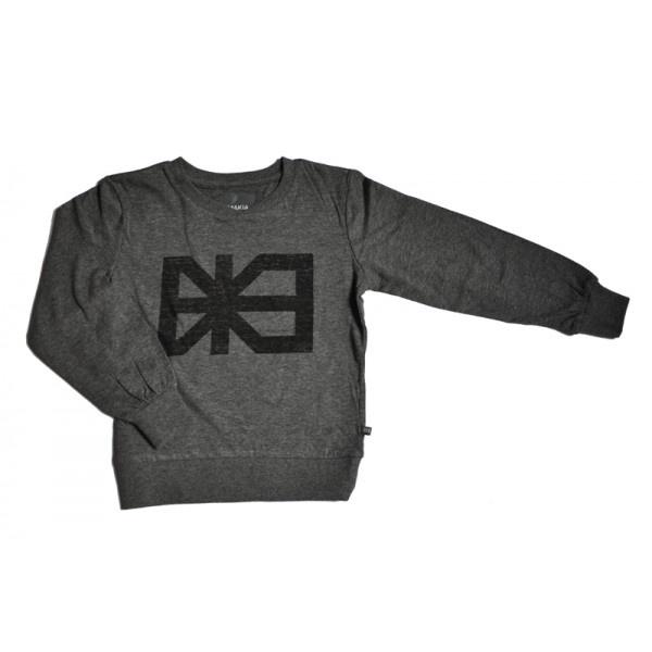 Makia Long sleeve print t-shirt, paita (harmaa)