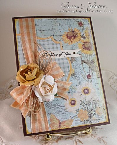Card using product by Prima, JustRite and May Arts available at The Stamp Simply Ribbon Store.