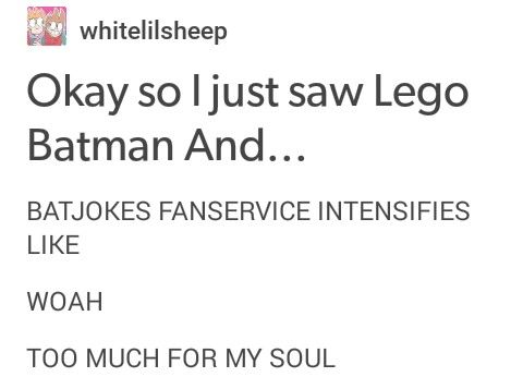 MUCH GAY I SHIP IT || Lego Batman, Tumblr, Batman, Joker, batjokes, the lego batman movie, Tumblr Lego Batman, Lego Batman Tumblr