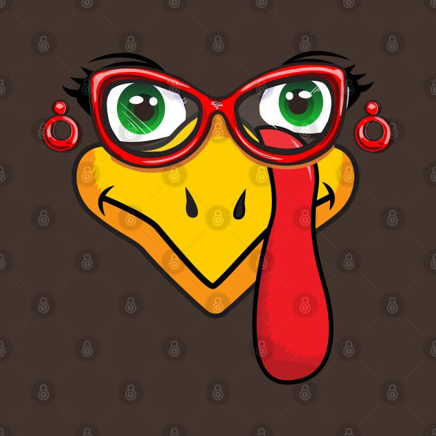 Check Out This Awesome Girl Turkey Face Red Sunglasses Earrings Thanksgiving Design On Teepublic
