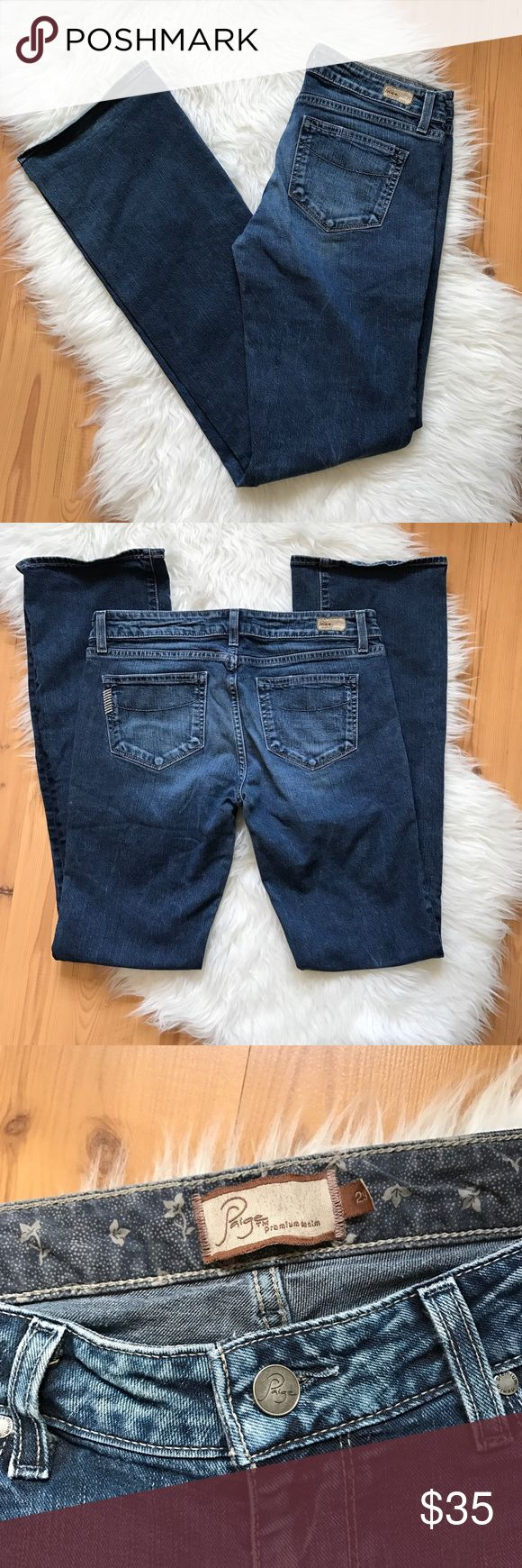 """Paige Benedict Canyon Classic Rise Jeans 29x33 Paige Benedict Canyon Classic Rise Womens Jeans Pegies Tall Long  Size: 29 Measurements: Inseam 33"""" Waist 15.5"""" Leg Opening 9"""" Length 43"""" Country of Manufacture: Mexico Material: 98% Cotton 2: Spandex Paige Jeans Jeans Boot Cut"""