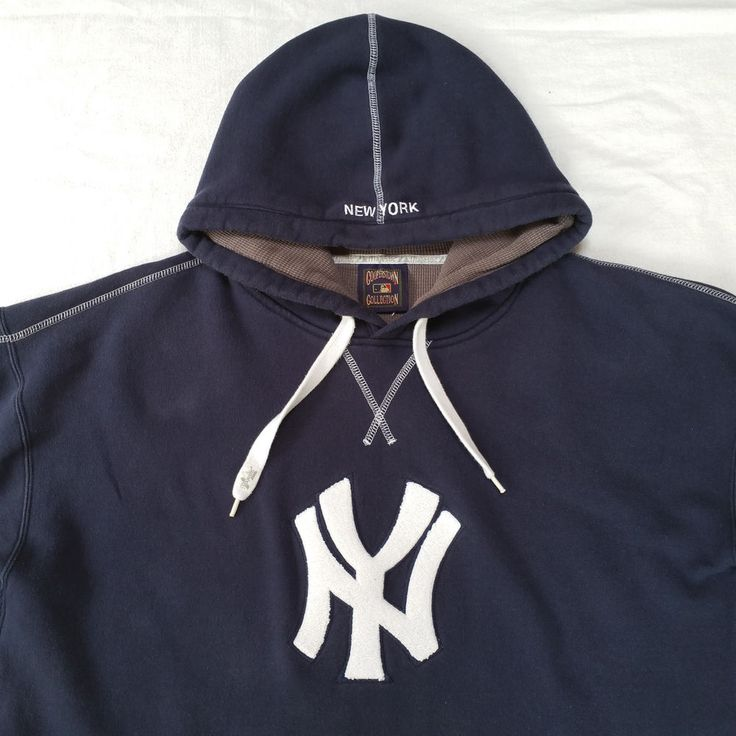 New York NY Yankees 1952 World Series Throwback Blue Hoodie Sweatshirt Mens XL #Majestic #NewYorkYankees