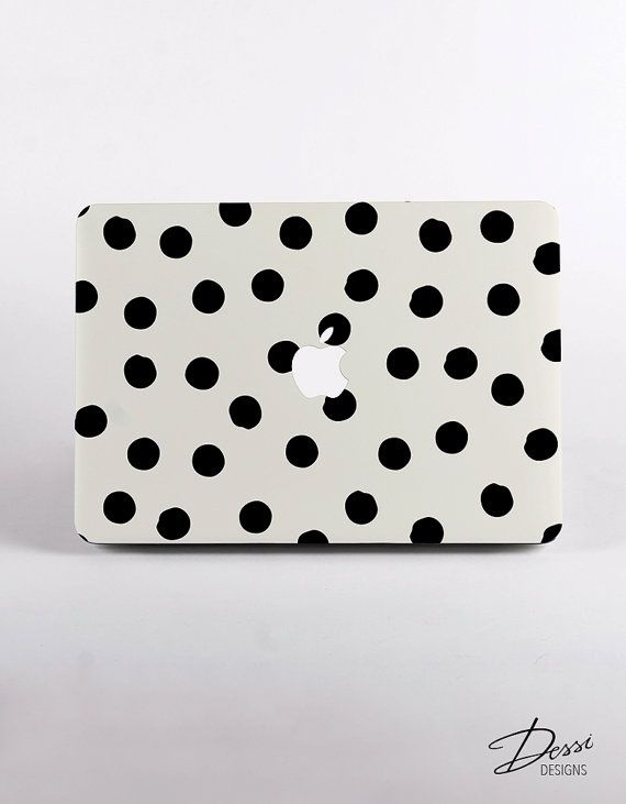 Hard Plastic Painted Dots Pattern MacBook Case Design for MacBook Pro Retina Display and MacBook Air Case