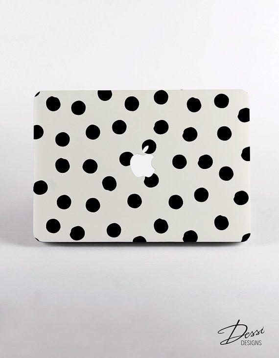 Plastica dura verniciato Dots Pattern MacBook caso Design per Display Retina MacBook Pro e MacBook Air caso