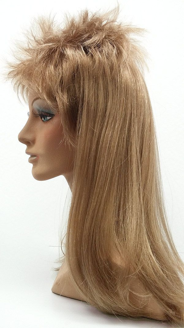 17 inch Long Joe Dirt Style Mullet Wig. Men's Dirty Blonde Mullet Wig. Dark Blonde Wig. by ParamountWigs on Etsy