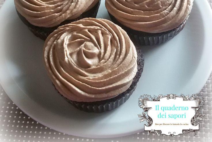 Cupcake al cioccolato con crema al formaggio | Il quaderno dei sapori