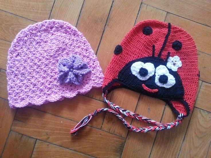 Hainute copii tricotate si crosetate la comanda: Caciulite de primavara