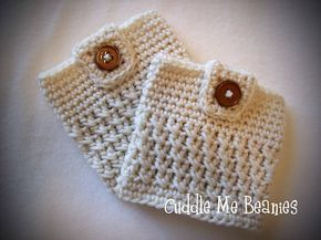 Ravelry: Button-Up Boot Cuff Crochet Pattern pattern by April Bennett with Cuddle Me Beanies