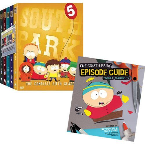 South Park: The Complete Seasons 1-5 Pack  Companion Episode Guide Book: Seasons 1-5 @ niftywarehouse.com #NiftyWarehouse #SouthPark #ComedyCentral #TVShows #TV #Comedy