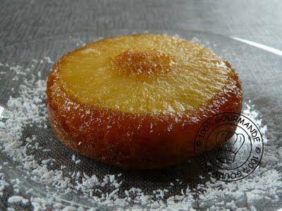 Gâteau ananas caramel individuel : renversant ...