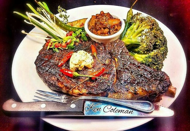 I want to dive into this so bad! Pic and amazing plate courtesy of the extremely talented @kc_foodcreations -  #kc_foodcreations Steakhouse @ home. We see flame grilled bone-in perfection in your future. Are you hungry yet?  . . . #Grill #Grilling #BBQ #Barbecue #GrillPorn #FoodPorn #Beef #BeefPorn #Steak #SteakPorn #Food #Foodie #FoodPhotography #Foodstagram #InstaFood #Meat #MeatLover #MeatPorn #Paleo #GlutenFree #EEEEEATS #ForkYeah