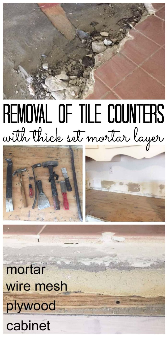 Tile Removal Removing Thick Set Tile Counters Tile Counters