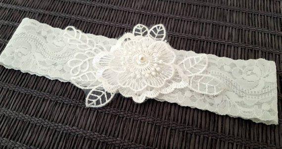 pastel garter beaded silk garter ivory and pale blue garter vintage bridal garter something blue crochet garter Blue wedding garter