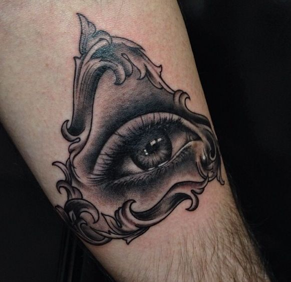 Eye With Triangle Tattoo: Eye And Triangle