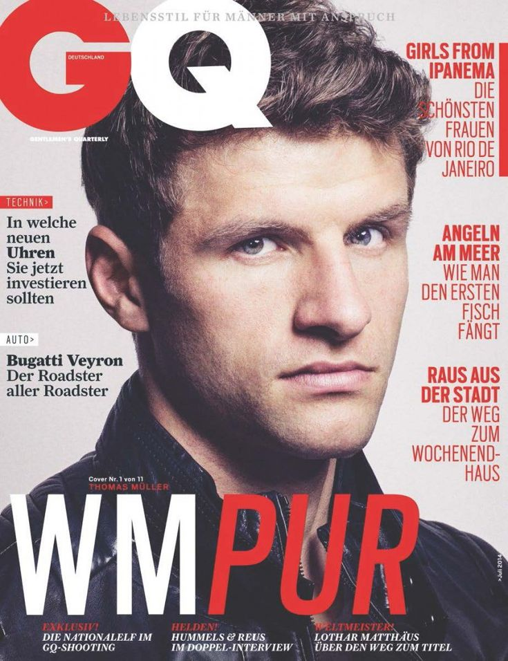 GQ Germany Celebrates World Cup with 11 Covers for July Issue