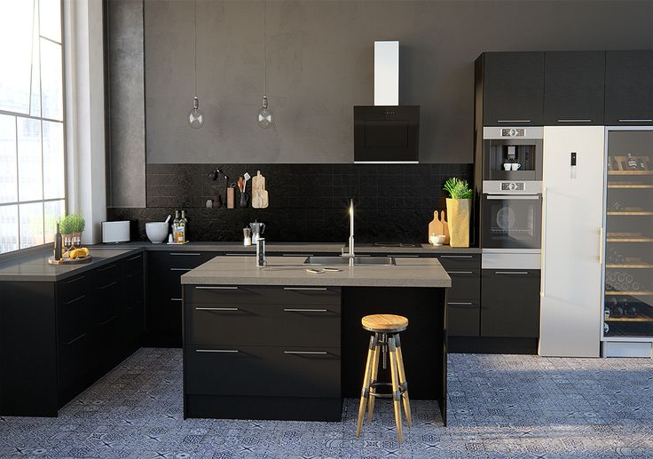 Edge black oak kj kken fra epoq kj p hos elkj p og for D kitchen andheri east