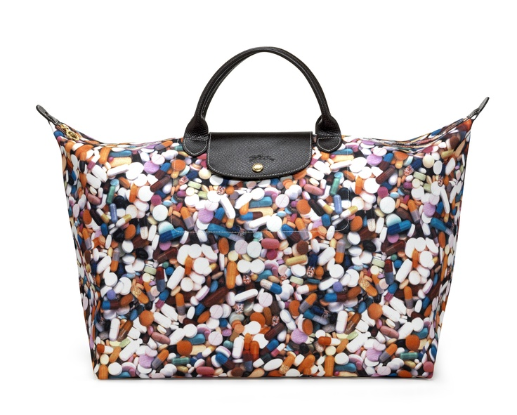 "Le Pliage ""Pills"" - Collaboration with Jeremy Scott. Longchamp Collection FW 2011"