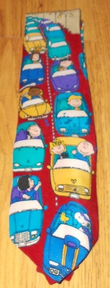Peanuts Beep Beep Men's NeckTie Snoopy Woodstock Lucy Linus Patty Sally Pig-Pen #Peanuts #Tie