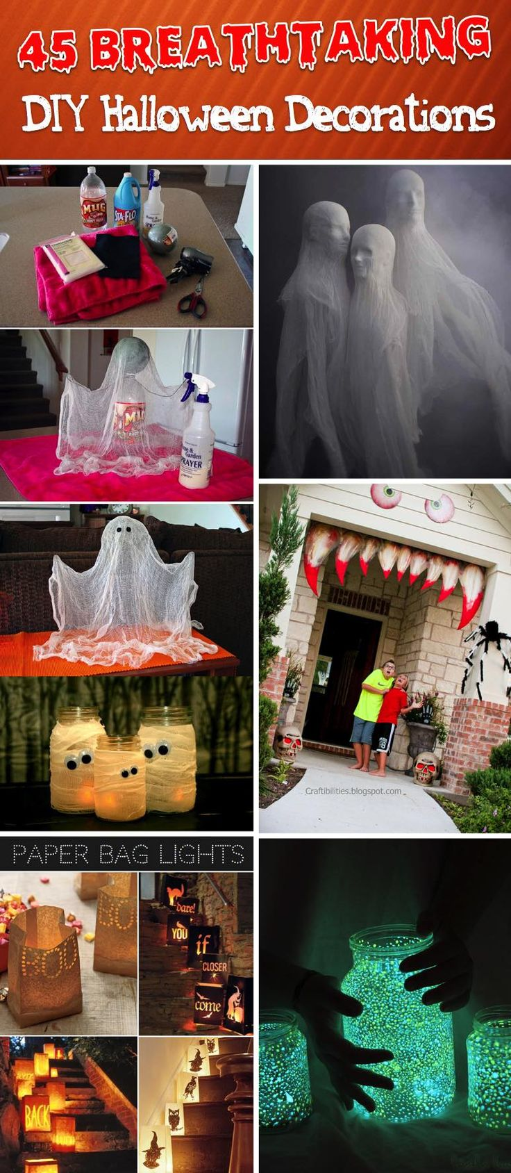 45 Most Amazing DIY Halloween Decorations You can Effortlessly Come up With