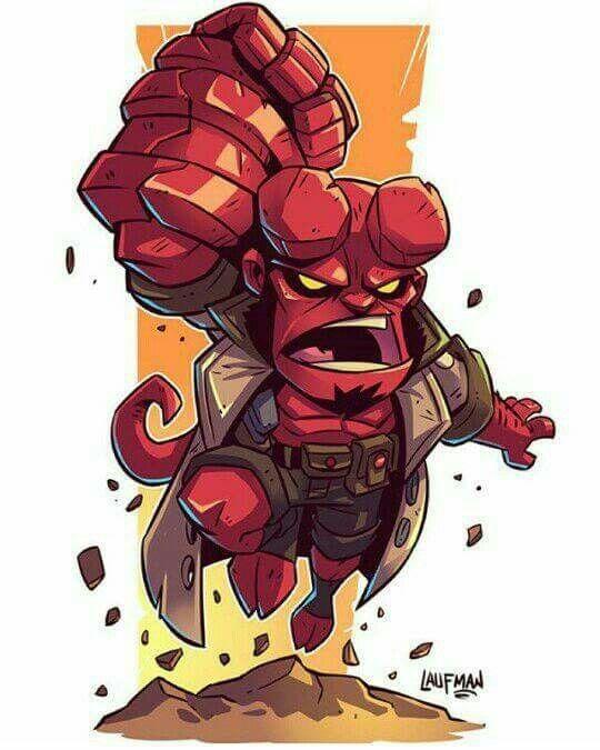Chibi Hellboy by Derek Laufman