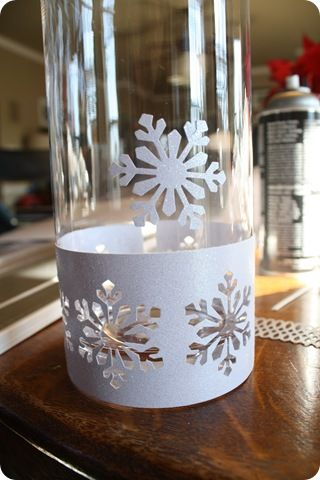 Thrifty Decor Chick: snowflake candle holders