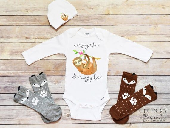 Baby Grow Clothes Novelty Gifts for Baby Girls Silly Sloth