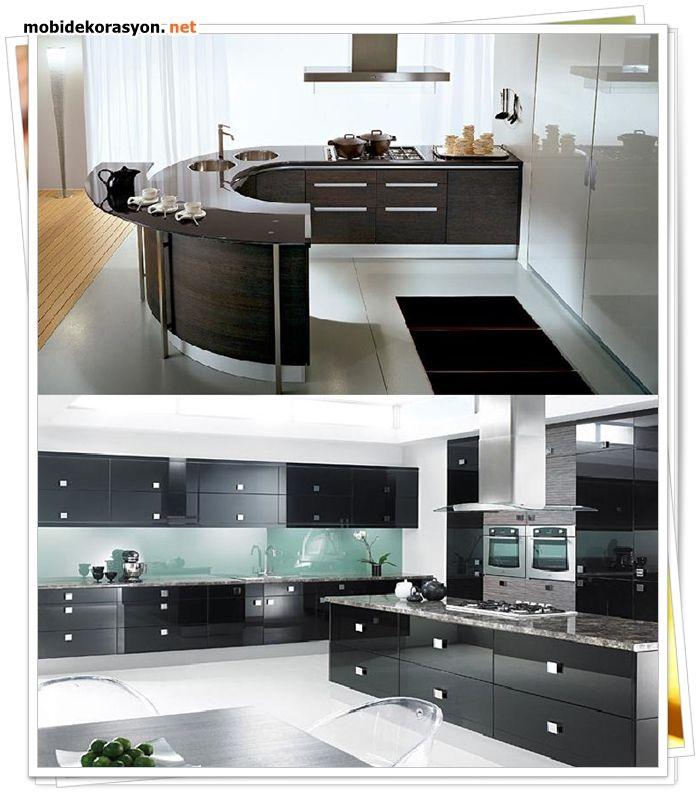 Siyah beyaz mutfaklar bir başkadır  candır aşktır.