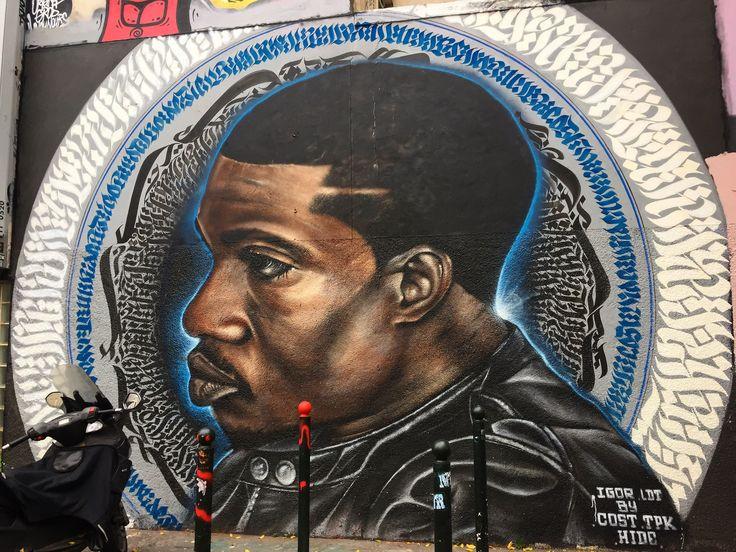 Portrait de @igor.ldt by @costtpk #costtpk #tpk & @mysterhideyes #misterhide #igorldt #freestyler #overdozprod #ovdz #streetart #urbanart #graffiti #graff #wall #spray #calligraphy #bombing Rue de la Fontaine au Roi #paris