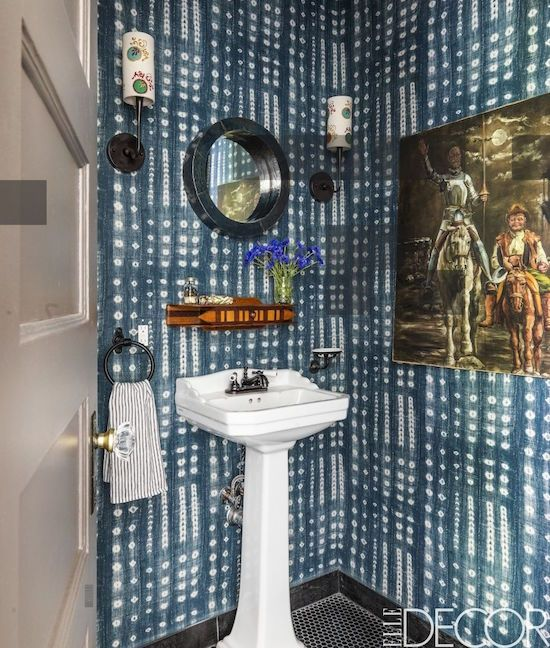 Homepolish Brooklyn Apartment Design With Cool Wallpaper: 569 Best Powder Room Perfection Images On Pinterest