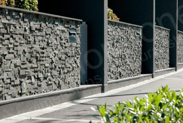 Charcoal Rock Panel | Natural Stacked Stone Veneer for Wall Cladding